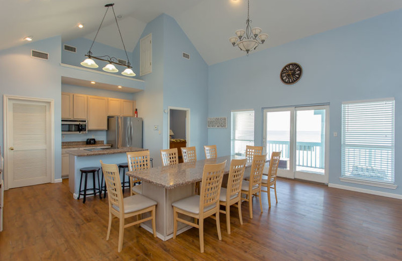 Rental kitchen at Ryson Vacation Rentals.
