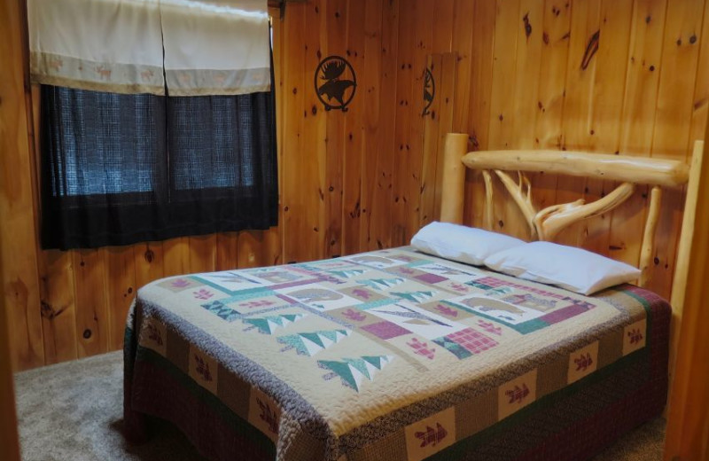 Guest bedroom at Sleeping Bear Resort.