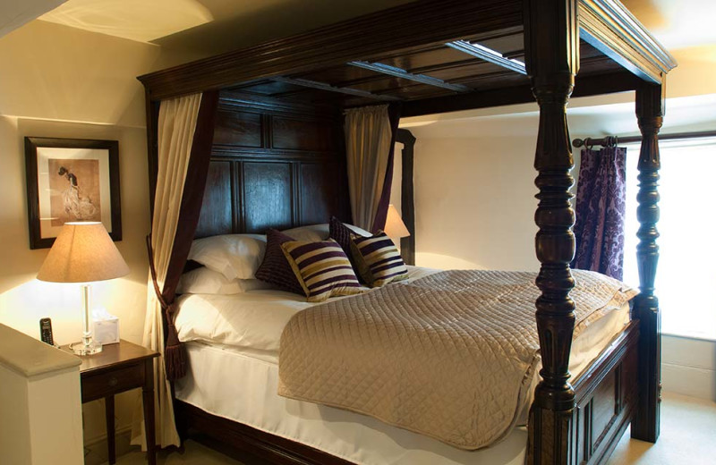 Guest room at The Castle Inn.