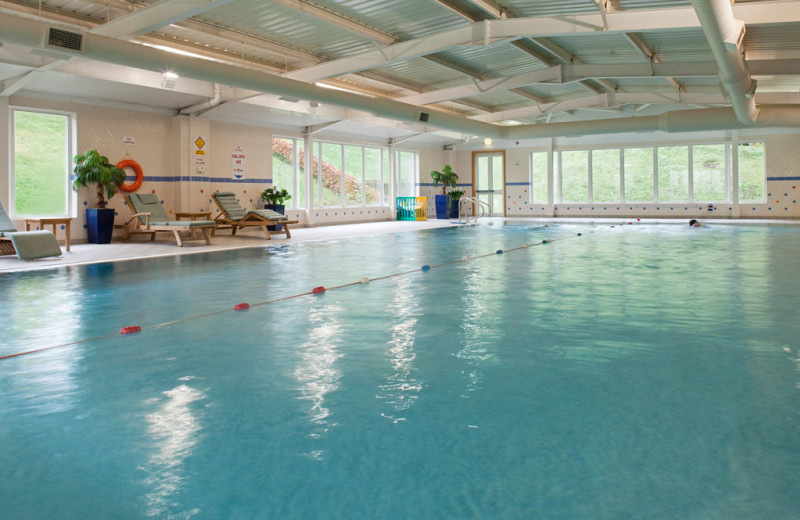 Indoor pool at Ardoe House Hotel.