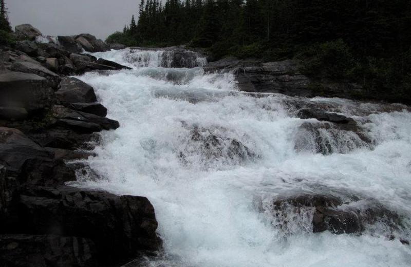 Waterfall near Bear Hill Lodge.