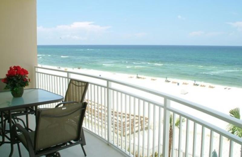 Balcony view at Aqua Beach Condos & Vacation Resort.
