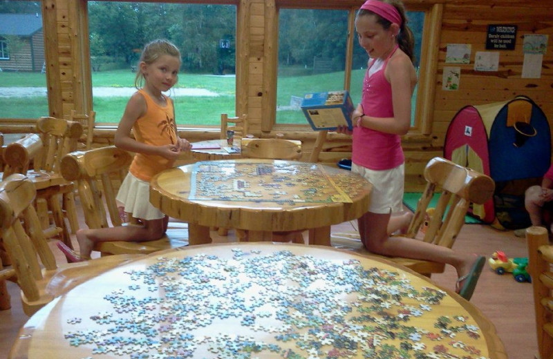 Piecing a puzzle together at Hyde-A-Way Bay Resort.