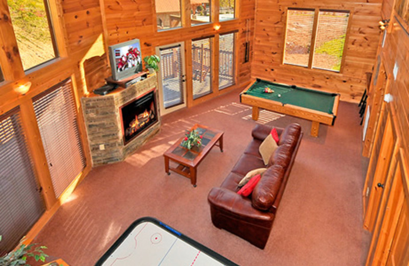Cabin interior at Dollywood Cabins.