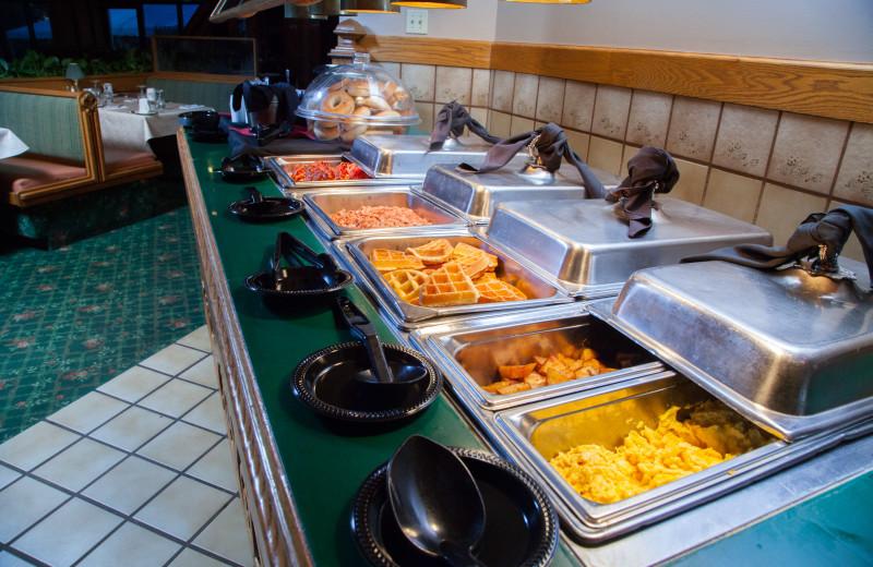 Breakfast buffet at Evergreen Resort.