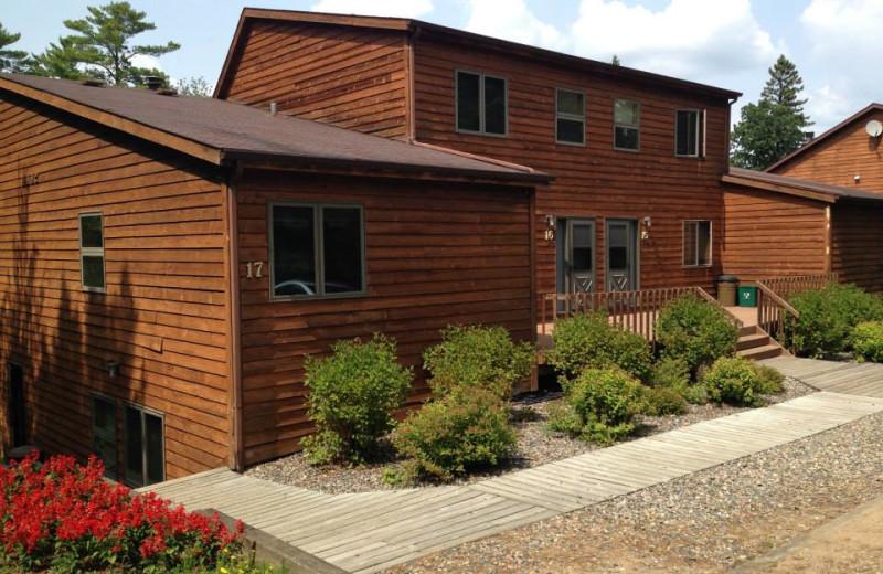 Exterior view of Timberlane Resort.