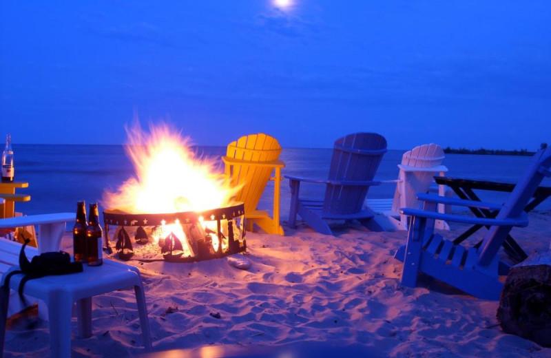 Beach Fire Pit at Beachfront Inn