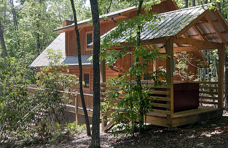 Cabin exterior at Rock Creek Cabins.