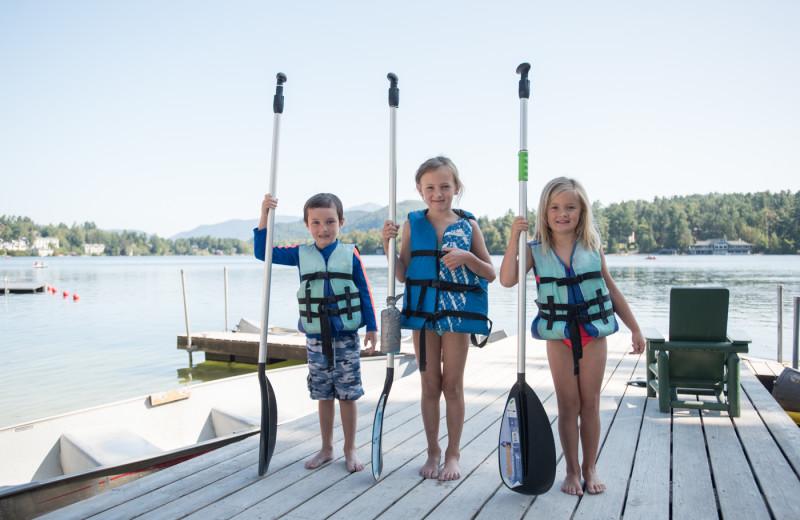 Kayaking at Golden Arrow Lakeside Resort.