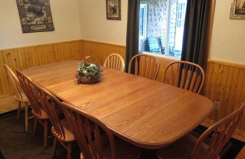 Guest dining at Sleeping Bear Resort.