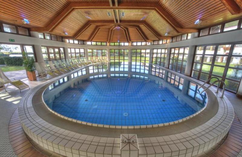 Indoor pool at Seehotel Rust.