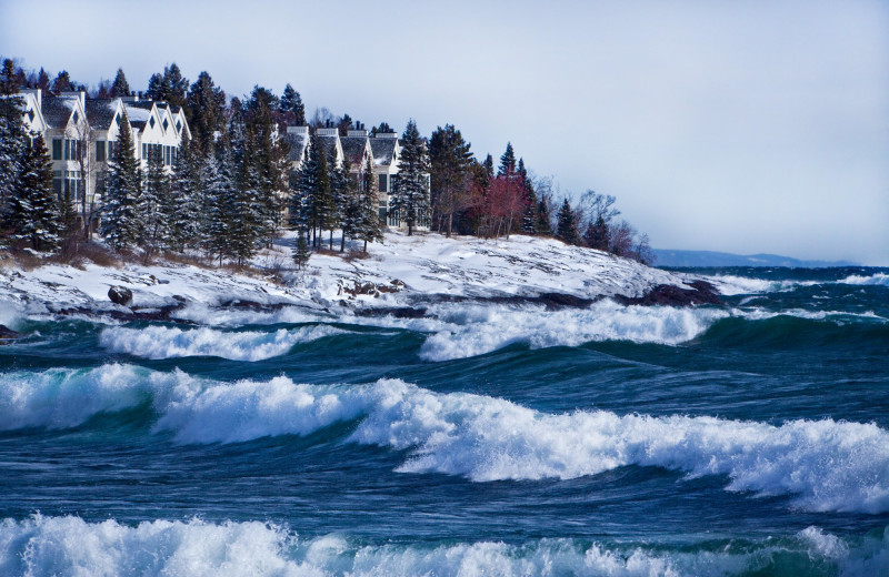 Exterior view of Bluefin Bay on Lake Superior.