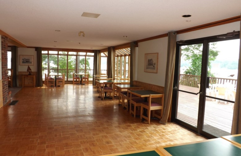 Gathering space at Westwind Inn on the Lake.