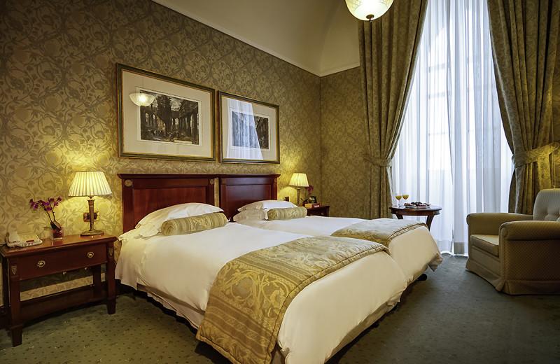 Guest room at Villa Igiea Grand Hotel.