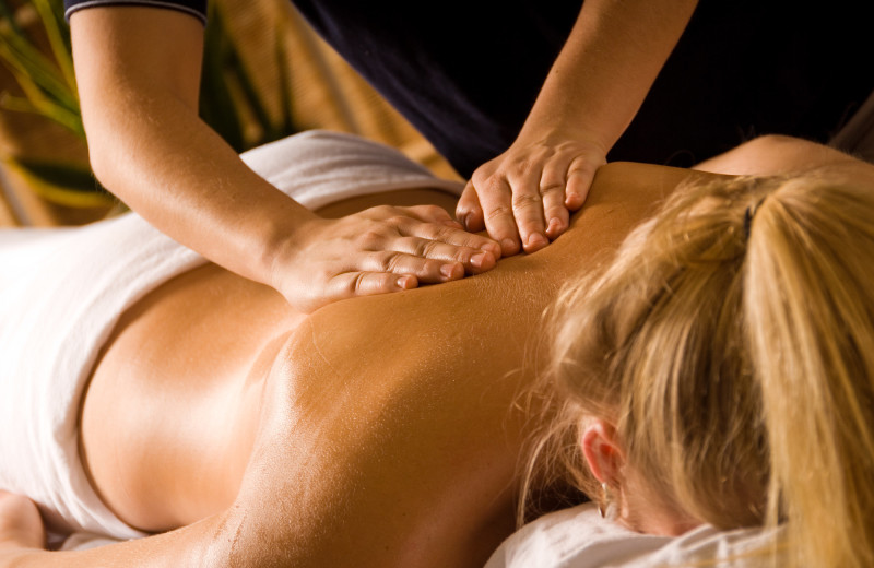 Back massage at Riverside Hot Springs Inn & Spa.