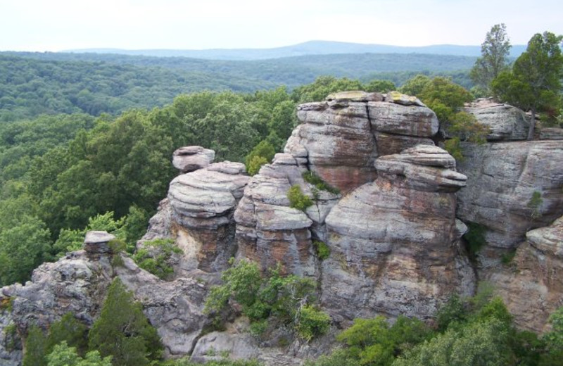Garden Of The Gods In The Shawnee National Forest . Shawnee Forest Cabins  Is The Closest ...