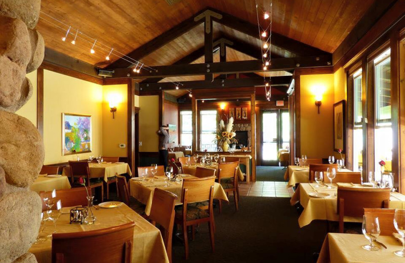 Dining room at Applewood Inn, Restaurant and Spa.