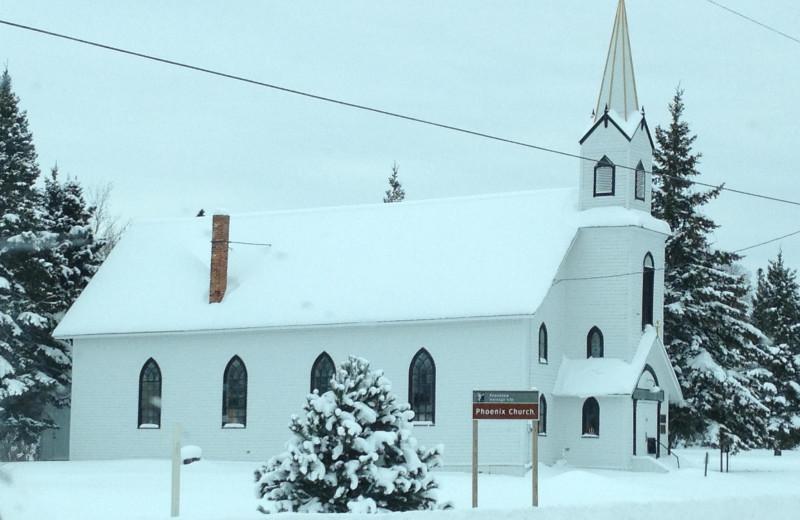 Phoenix Church near Lac La Belle Lodge.