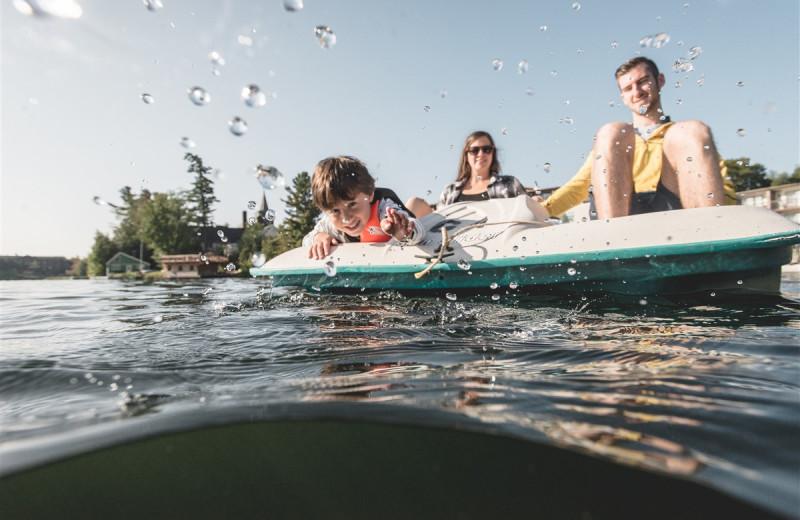 Paddle boat at Golden Arrow Lakeside Resort.