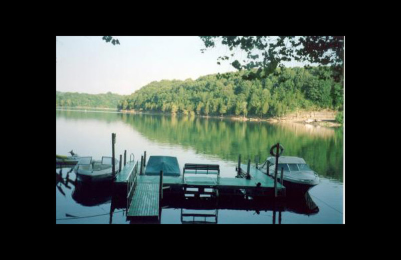 Dock at Cumberland Cove Cottages.