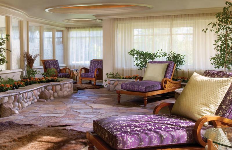 Spa lounge at Turning Stone Resort Casino.