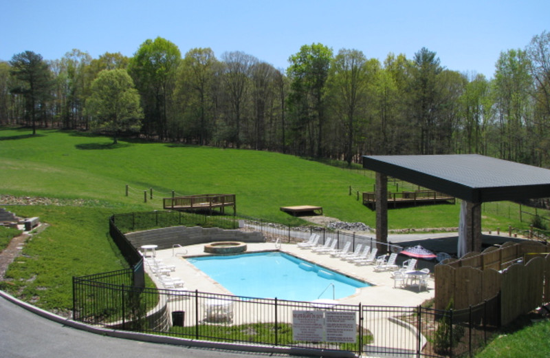 Outdoor pool at Copperhead Lodge.
