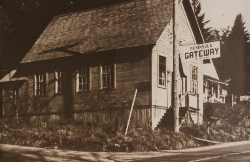 Historic photo of area at The Inn at Gig Harbor.
