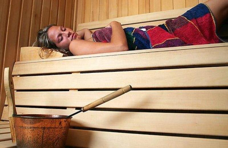 Sauna at Edgewater Resort.