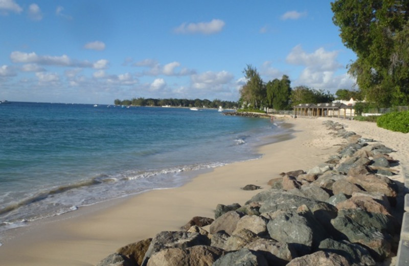 Beach at Sunset Crest Resort.
