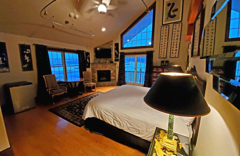 Guest room at Chelsea Sun Inn.