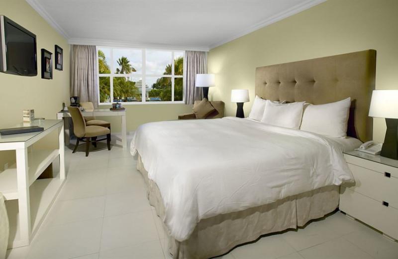 Guest room at Brickell Bay Beach Club Aruba.