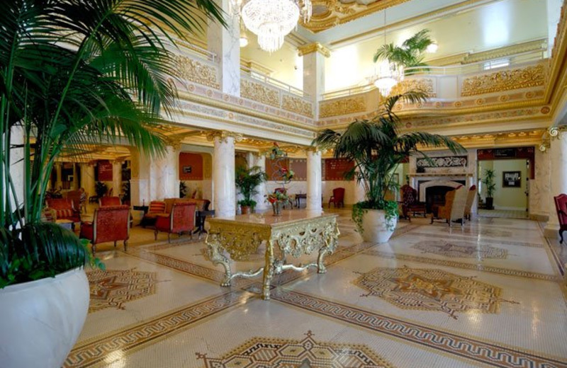 Lobby at French Lick Resort.