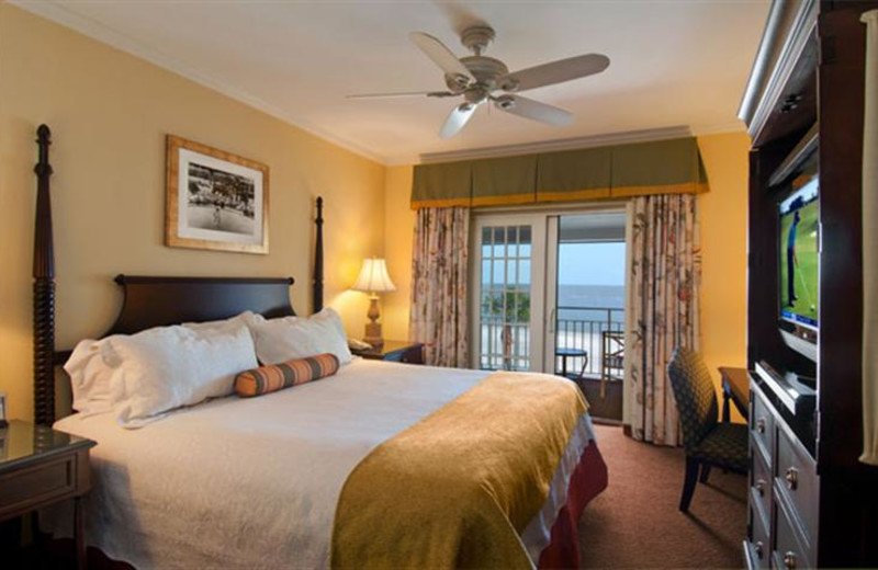 Guest rooms at The King and Prince Beach Resort.