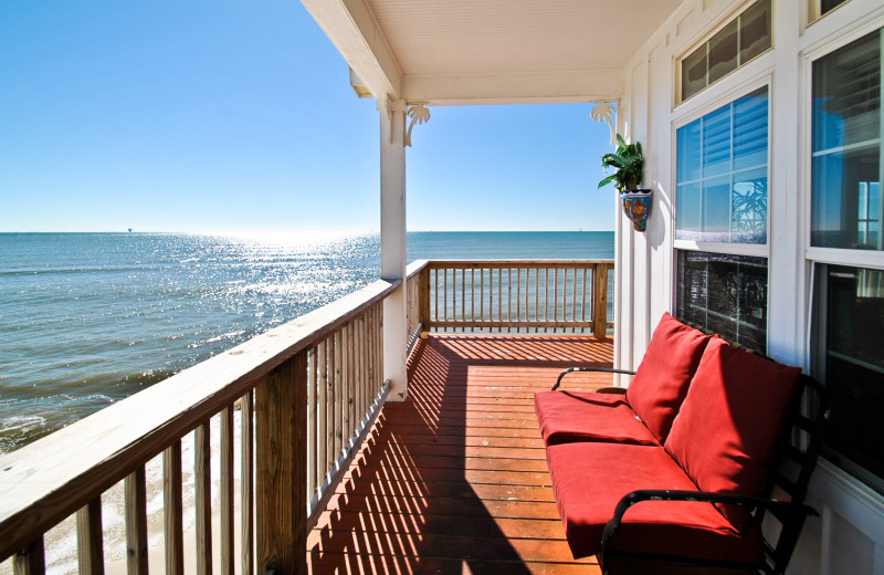 Rental balcony at Dauphin Island Beach Rentals, LLC.