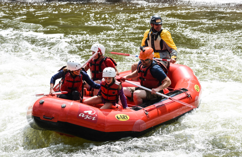 Rafting at Railey Vacations.