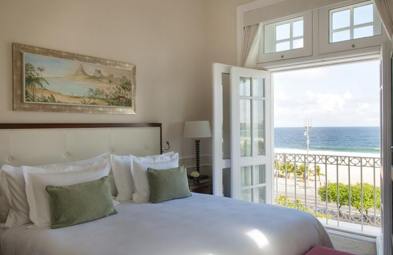Guest room at Copacabana Palace.