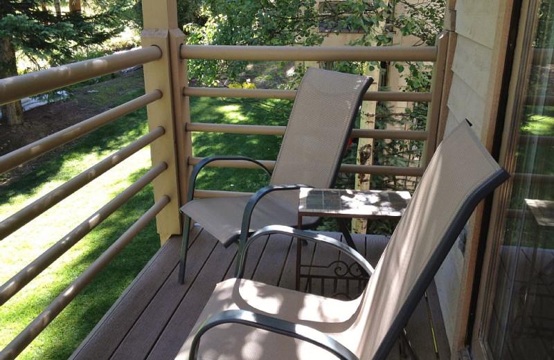 Rental balcony at Wildwood Suites.