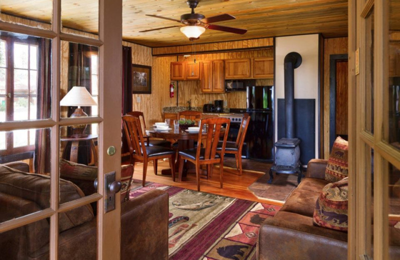 Ford Cabin family room / kitchen