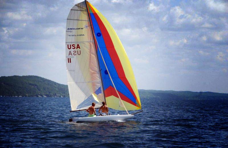 Sailing at Chimney Corners Resort