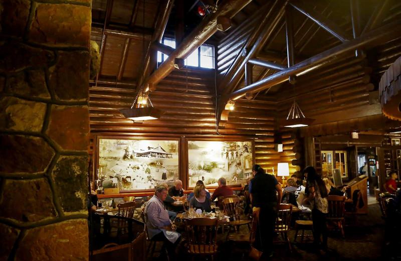 Dining at Keweenaw Mountain Lodge.