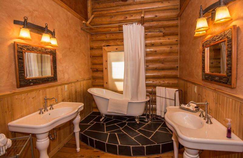 Rental bathroom at Pagosa Springs Accommodations.