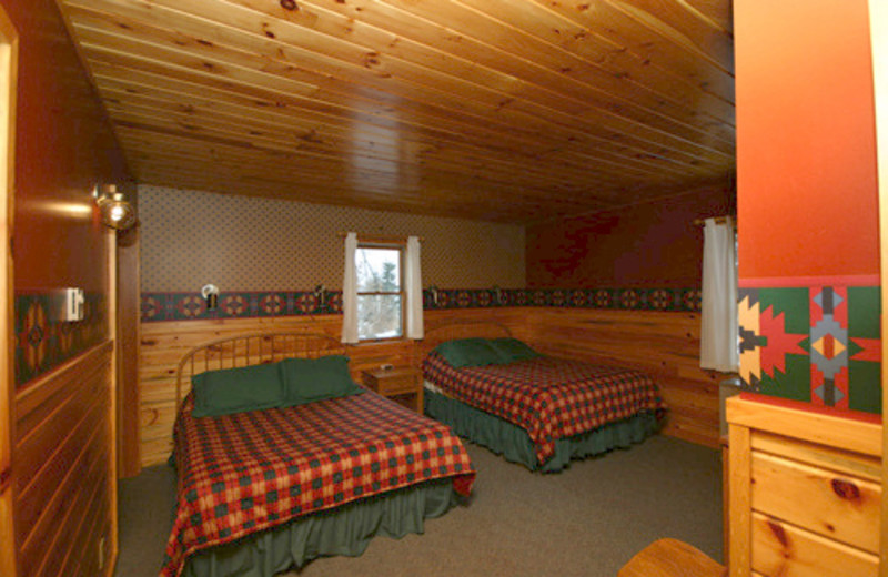 Guest room at Gunflint Lodge.