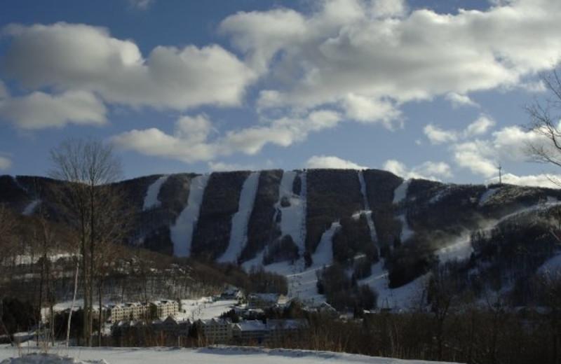 Beautiful mountain view at Jiminy Peak Mountain Resort.