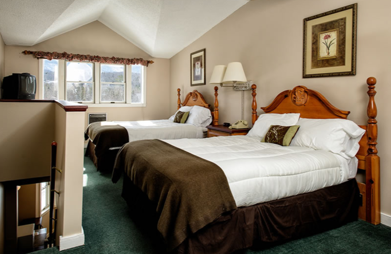 Guest room at The Valley Inn.