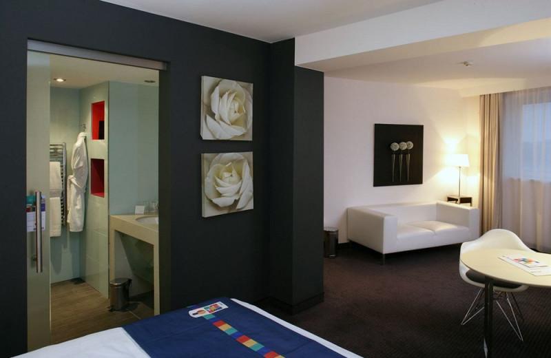 Guest room at Park Inn Danube.