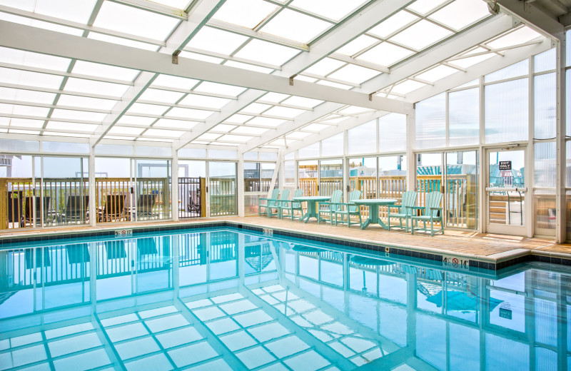 Indoor pool at Ramada Plaza Nags Head Oceanfront.