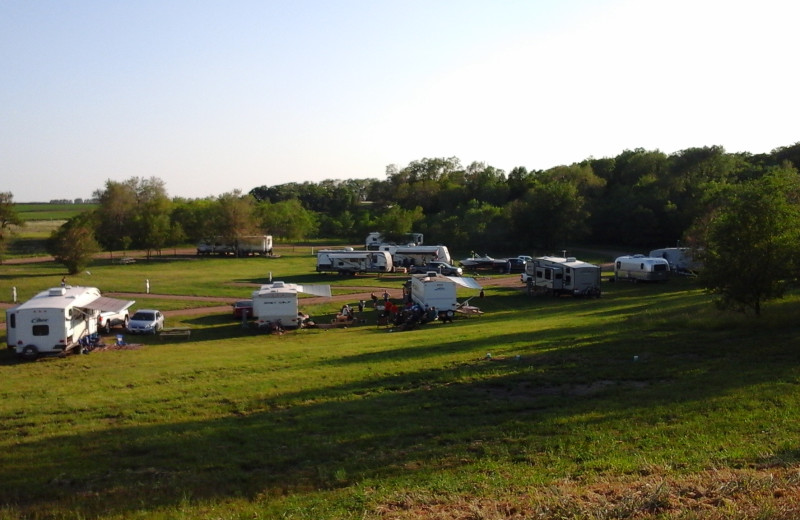 RV campground at The Homestead at Ottertail RV Park and Resort.
