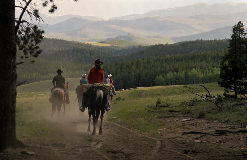 Horseback riding at Paradise Guest Ranch.