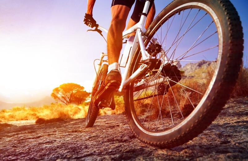 Biking at Big Horn Lodge.