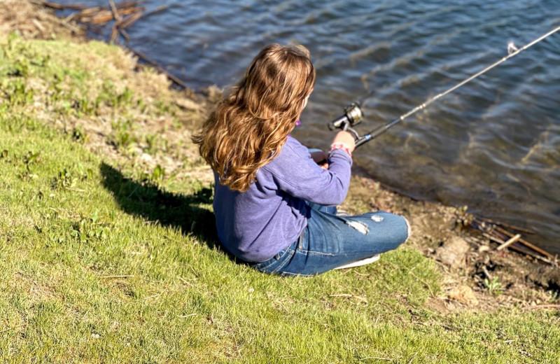Fishing at Rankin Ranch.